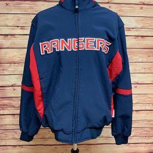 NHL NY Rangers Blue Zip Jacket, M
